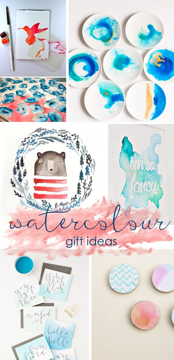 A Watercolour Christmas. Inspiration to make your own!  http://homeology.co.za/inspire/a-watercolour-christmas/