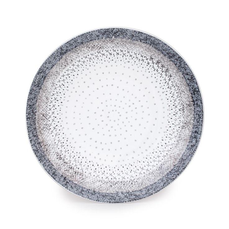 """Assiette à dessert, collection """"Stella"""".  En grès, diamètre 21 cm.  Superbe qualité pour une table raffinée !"""