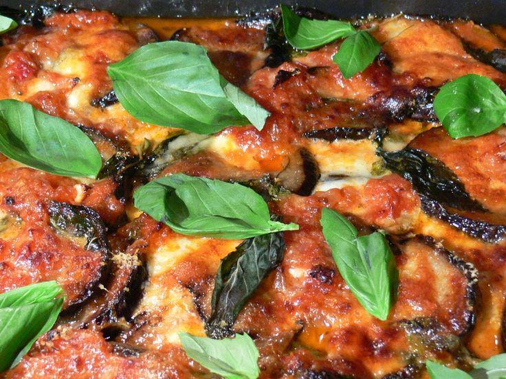 Parmigiana: plato típico siciliano a base de berenjena