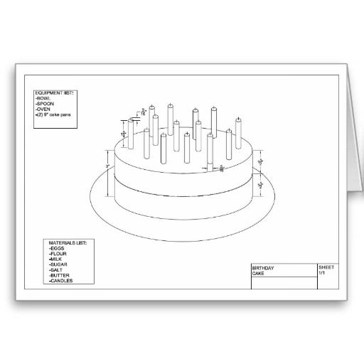 Architectural Birthday Cake Card Cakes Birthdays And