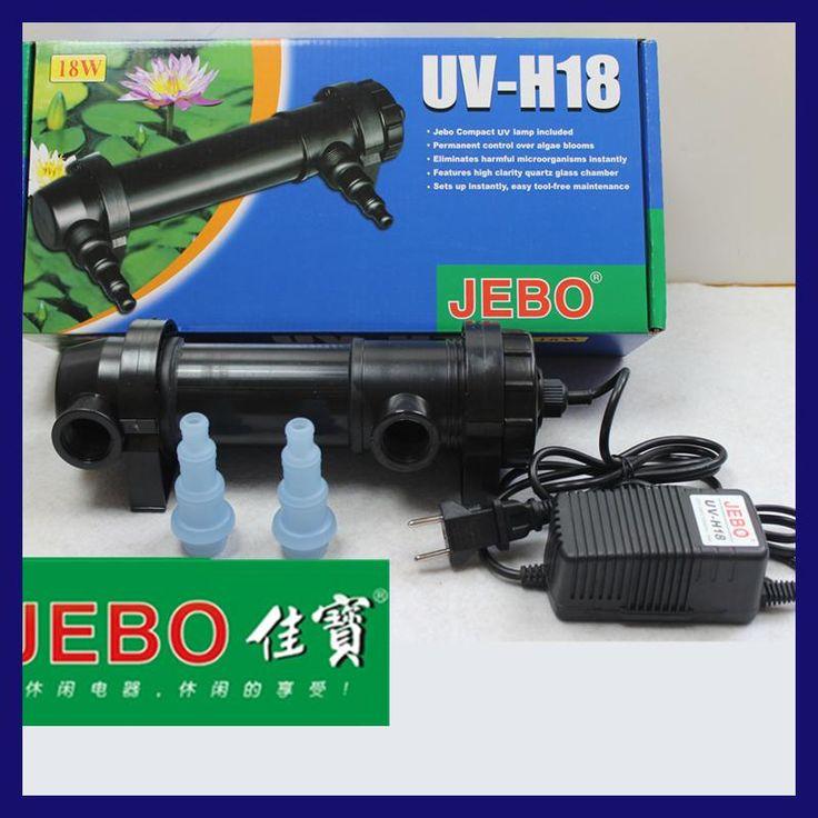 JEBO 18W 220~240V UV Sterilizer Lamp Light Ultraviolet Filter Clarifier For  Aquarium Pond Coral