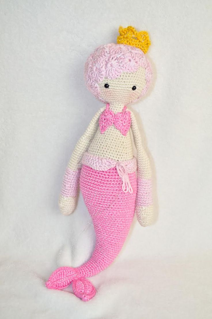 MICI the mermaid made by Alexandra Sch. / crochet pattern by lalylala