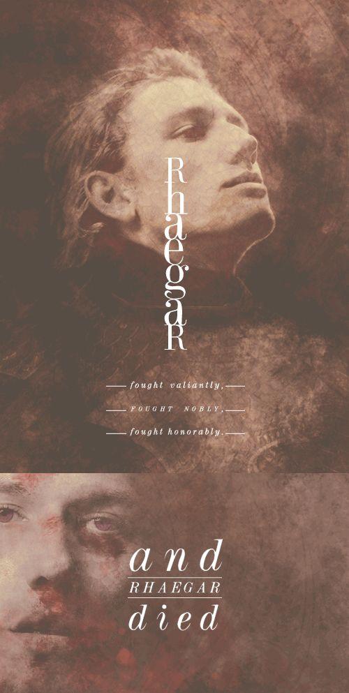 Fan Art of Rhaegar Targaryen for fans of Game of Thrones.