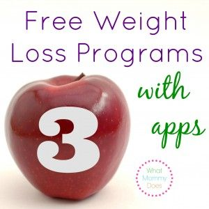 3 Free Weight Loss Programs with Apps