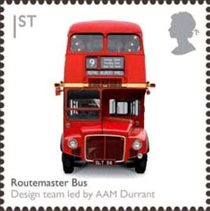Sello británico - Routemaster autobús de dos pisos ..