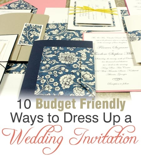 Where To Buy Wedding Invitation Paper: 10 Budget Friendly Ways To Dress Up A Store-bought Wedding