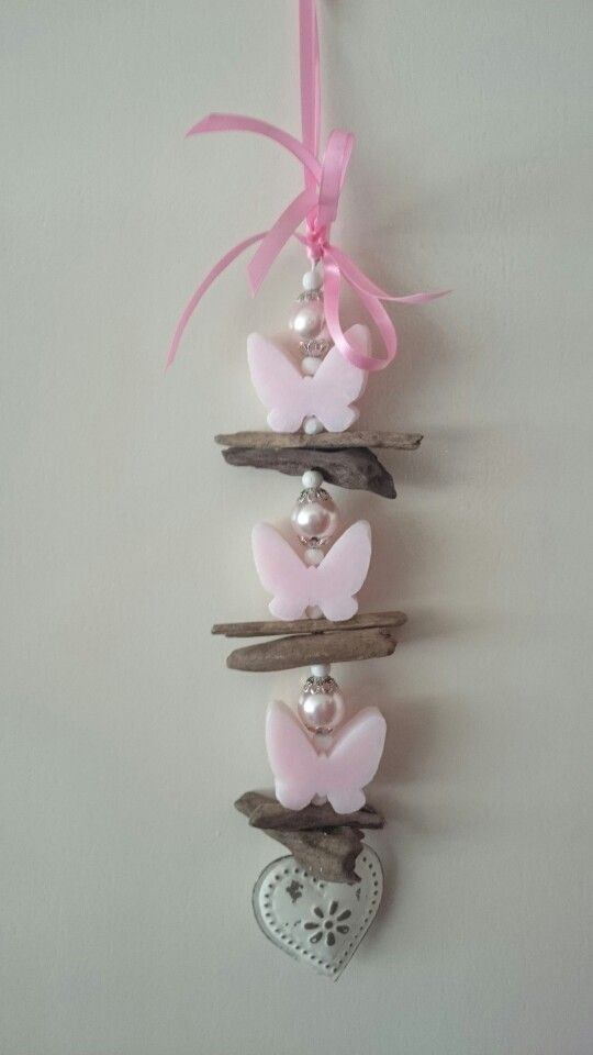 Zeepketting 'pink butterflies'