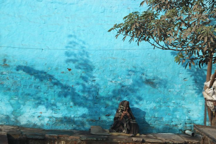 If you a wall blue, then make it #blue...#India photo by #Efi Vergou