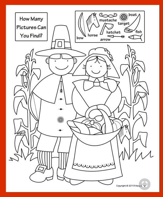 577 best suchen images on Pinterest Hidden pictures, Hidden images - new thanksgiving coloring pages for church