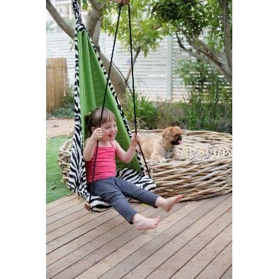 AZ 2030771 - Poltrona sospesa - per bambini - per interni e esterni - Hang Mini Zebra - Amazonas Baby
