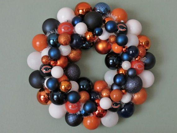 chicago bears wedding colors | CHICAGO BEARS Ornament Wreath by dottiegray on Etsy... cuuuuuuuuuuuuuute