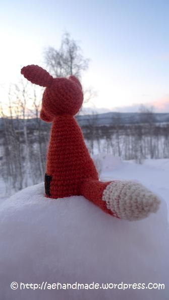 Free Amigurumi Crochet Fox Pattern / Gratis mönster på virkad räv