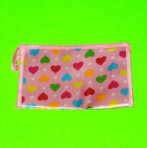 Pink Satin Zippered Pouch - More Styles! - Kitschy Kyuuto