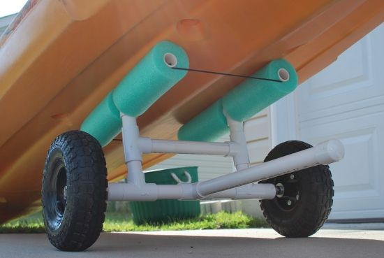 Best Tutorial: http://palmettokayakfishing.blogspot.com/2011/04/diy-bulletproof-kayak-cart-build.html