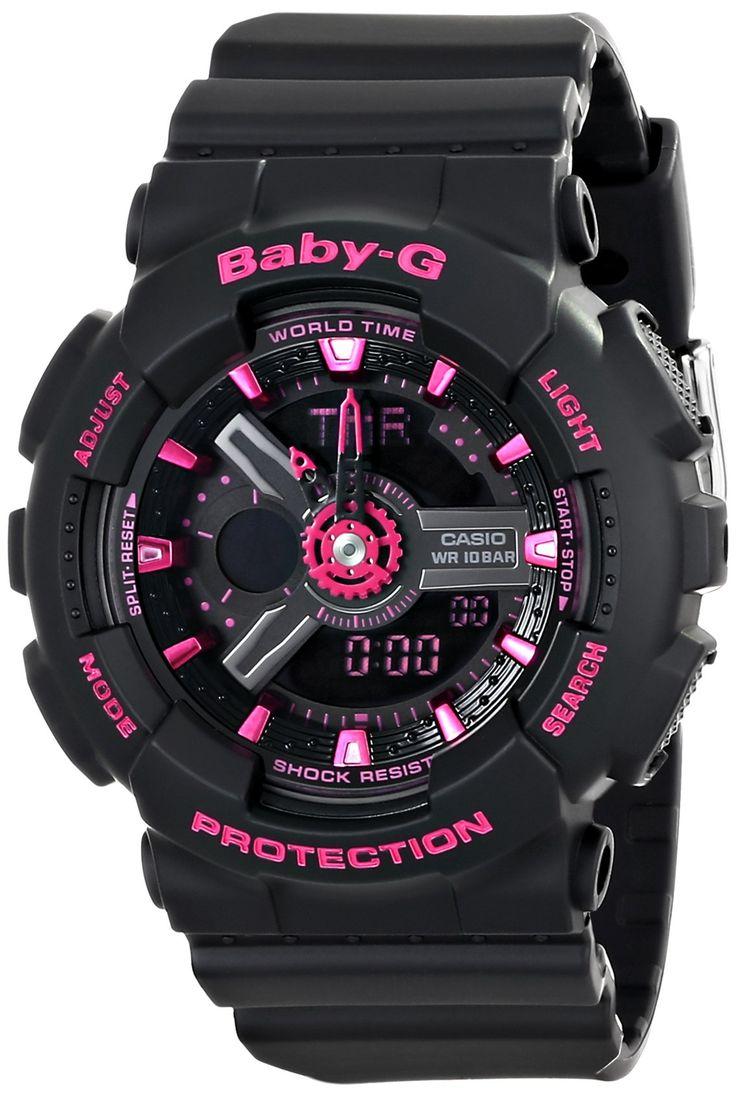 Casio Women's BA1111ACR BabyG Analog