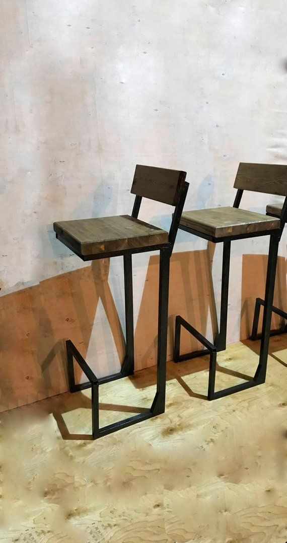 Height 13 40in 33 99cm Wood Metal Stool Etsy In 2020 Restaurant Tables And Chairs Metal Stool Chairs Logo