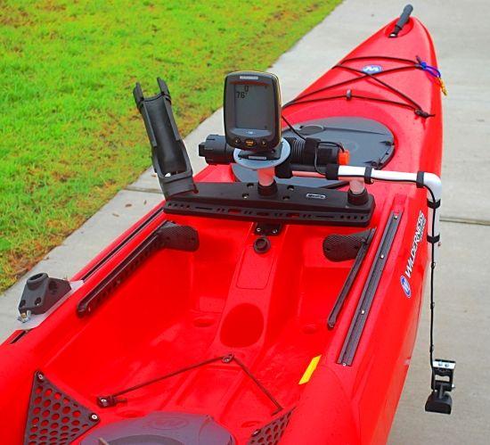 17 best images about kayak on pinterest fishing pole for Kayak fish finder mount