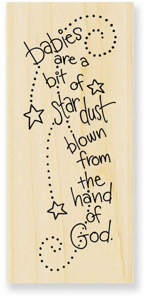 Baby Stardust - Rubber Stamp