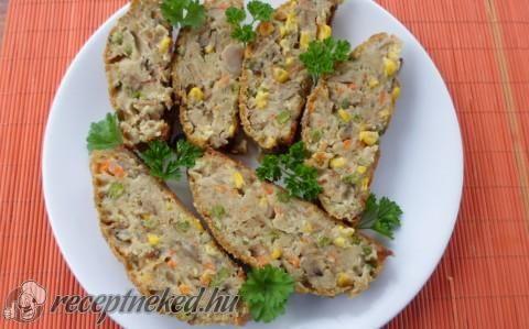 Zöldség fasírozott recept fotóval