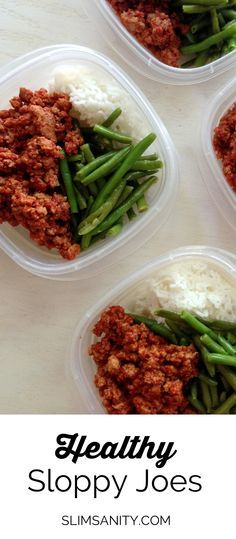 Healthy Sloppy Joes made with whole ingredients and ground turkey! Easy, healthy lunch all week long.