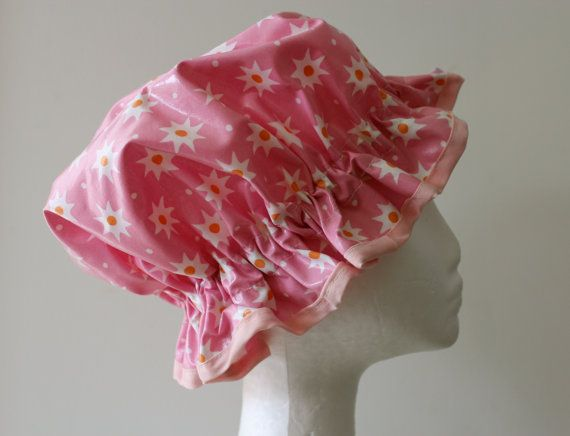GIRLS Handmade Shower Cap PVC FREE. Laminated Cotton. by PureHaven, $22.99