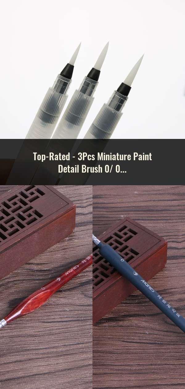 Fine Watercolor Paint Brush Quality Miniature Hook Line Pen C