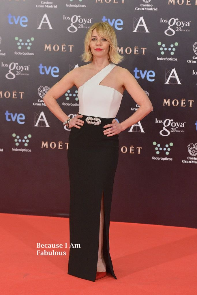 Fabulously Spotted: María Adánez Wearing Paule Ka - Goya Cinema Awards 2014 - http://www.becauseiamfabulous.com/2014/02/maria-adanez-wearing-paule-ka-goya-cinema-awards-2014/
