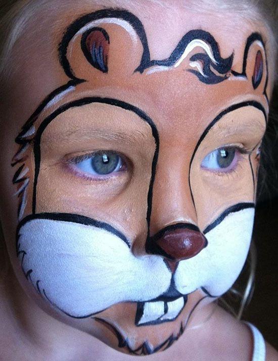 Как нарисовать белку на лице, лице ребенка? Как сделать аквагрим белочки?