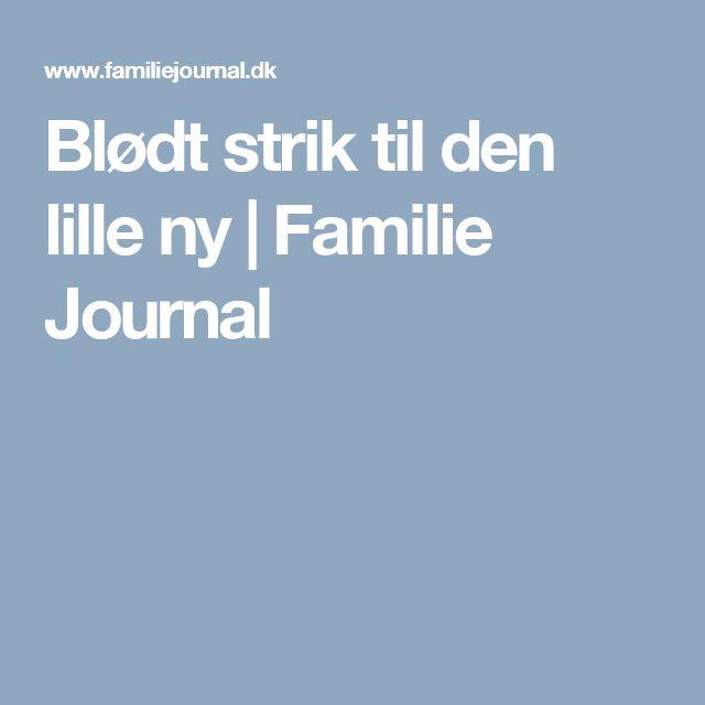 Blødt strik til den lille ny | Familie Journal