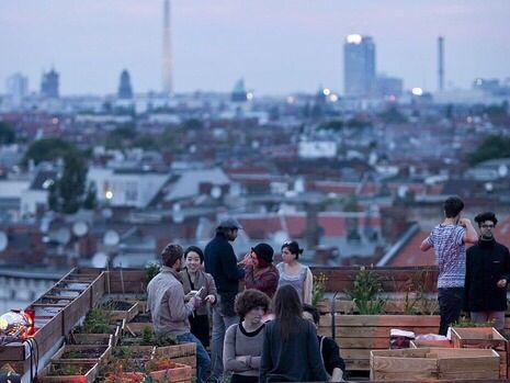Klunkerkranich rooftop bar, Berlin