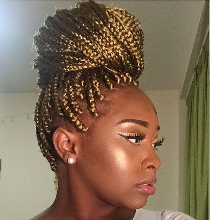 Incredible 1000 Ideas About Box Braids Bun On Pinterest Box Braids Box Short Hairstyles For Black Women Fulllsitofus