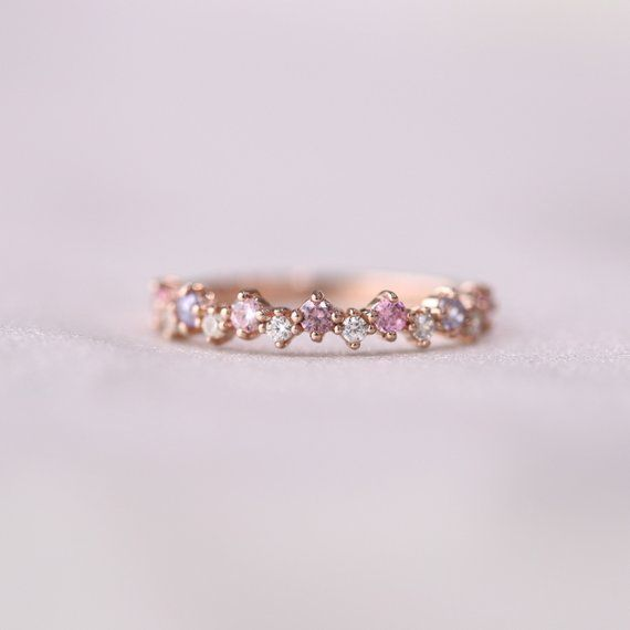 Dreamy pink sky ring ✨ * Detail * Material : sterling silver or 14k solid gold…   – My favorite rings