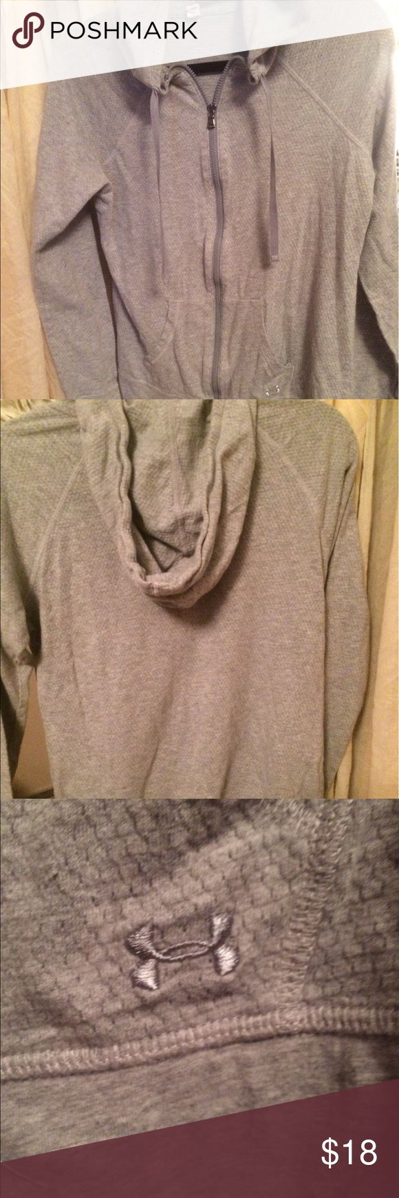 UNDER ARMOUR  LIGHTWEIGHT GRAY ZIP UP HOODIE UNDER ARMOUR LIGHTWEIGHT GRAY ZIP UP HOODIE WOMENS SIZE LARGE Under Armour Jackets & Coats