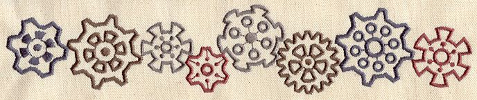 Gears 'n Cogs | Urban Threads: Unique and Awesome Embroidery Designs #Steampunk #Gears
