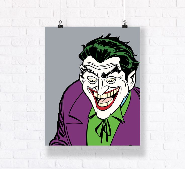 Joker The Villain Customizable Poster. Premium Quality