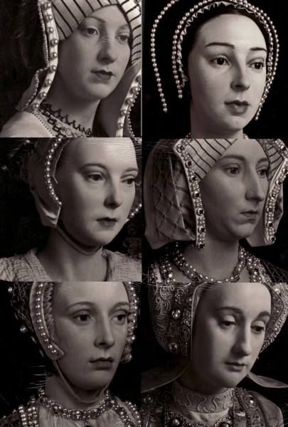 Wax figures of Henry VIII's wives.
