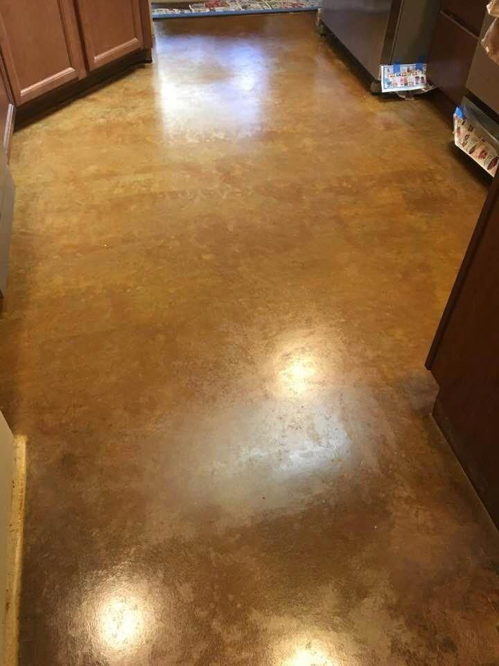 Easy to Clean and Maintain! Acid Stained floors are perfect for kitchens and you…