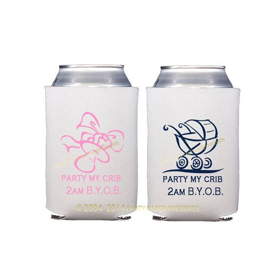 baby shower gender reveal party koozies party paper presents