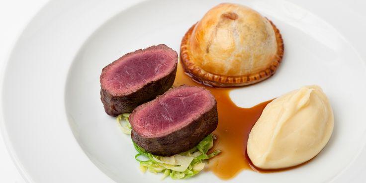 Adam Gray's sublime roast venison recipe includes a mushroom pie and cabbage