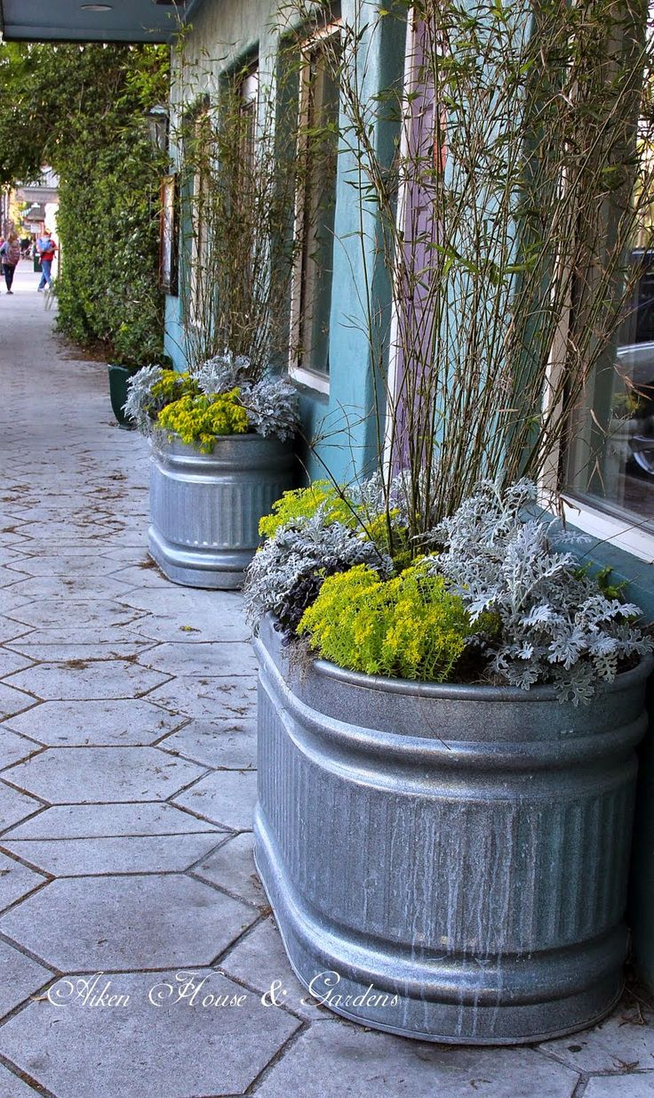 Aiken House U0026 Gardens: Window Boxes And Container Ideas. Trough PlantersPlant  TroughsBig PlantersGalvanized ...