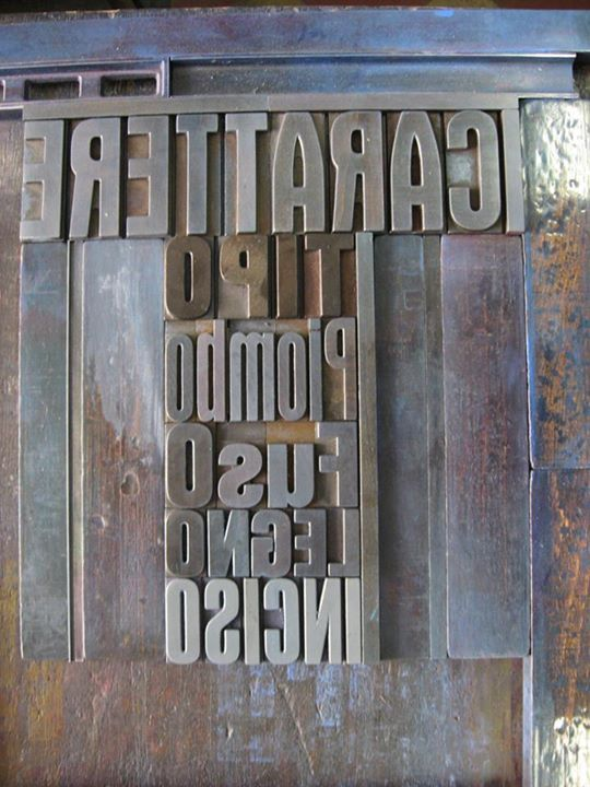 Old italian lead typefaces. La Vecchia Stamperia. Faenza. www.lavecchiastamperia.com