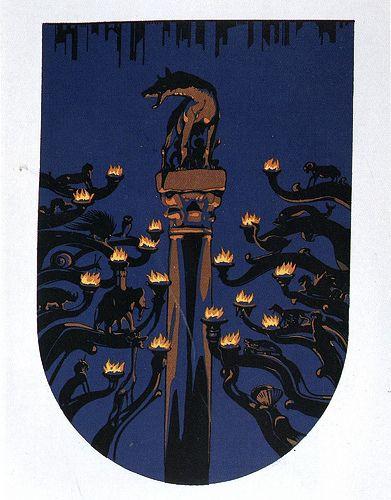 Notturno - Siena - Duilio Cambellotti 1932 #TuscanyAgriturismoGiratola