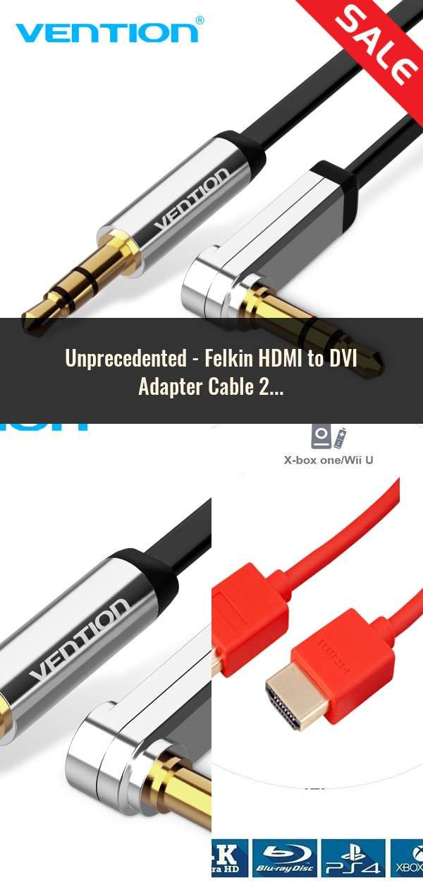 Felkin HDMI to DVI Adapter Cable 24k Gold Plated Plug DVI 24+1 to