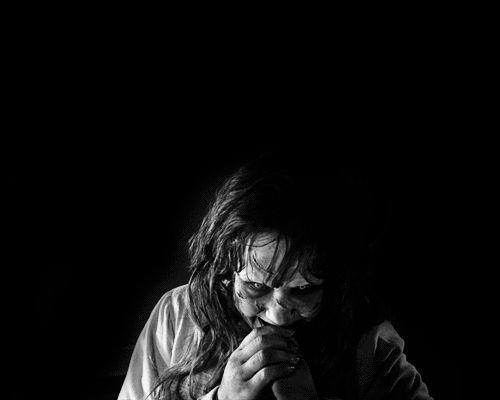 "Uber creepy possession pic of Linda Blair as Regan MacNeil from ""The Exorcist""."