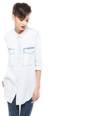 Bershka Polska - Dżinsowa koszula Bershka