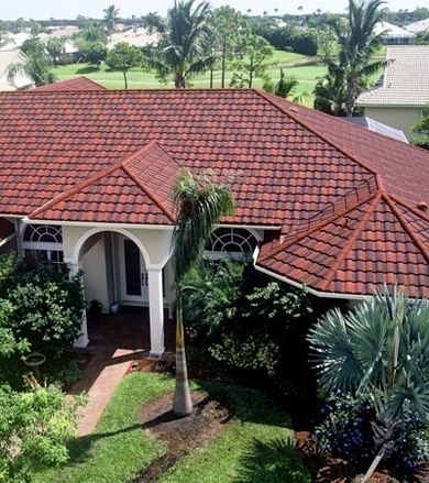 13 best metal roofs spanish tile images on pinterest for Metal roof that looks like spanish tile