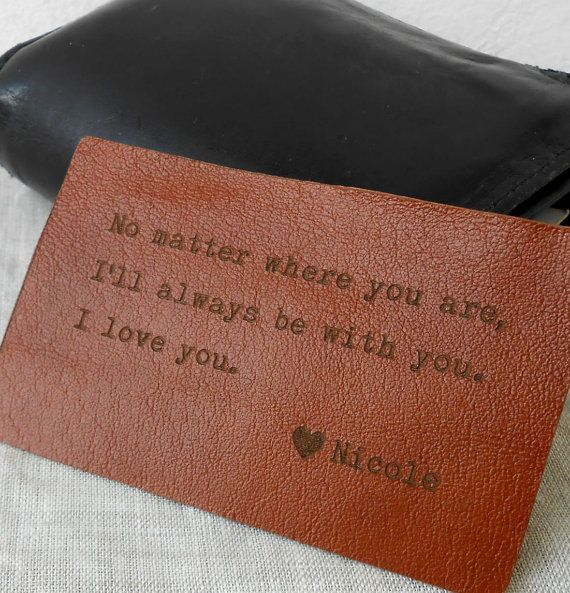 Custom Leather Wallet Insert Card Personalized Wallet Card 3rd Leather Anniversary Gift Mens Gift & Custom Leather Wallet Insert Card Personalized Wallet Card 3rd ...