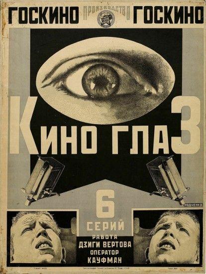 Aleksandr Rodchenko - Kino-glaz (Cine-Eye) (1924), poster for the film Kino-glaz by Dziga Vertov, lithography. Collection of the State Pushkin Museum of Fine Arts. © The State Pushkin Museum of Fine...                                                                                                                                                      More