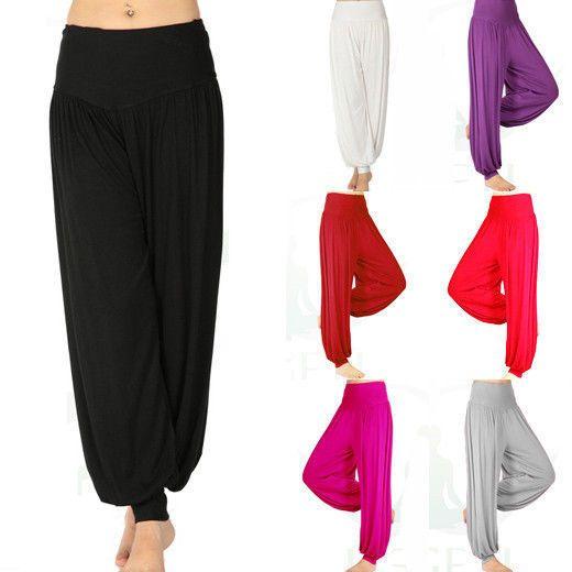2014 продажа женские брюки спортивные женщины твердые шаровары йога вспышки талии брюки bellysweatpant резинка boho широкий широкий брюки женский, принадлежащий категории Брюки и капри и относящийся к Одежда и аксессуары на сайте AliExpress.com | Alibaba Group