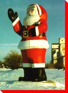 Canadian Roadside Attractions:    Santa Claus - Watson, Saskatchewan